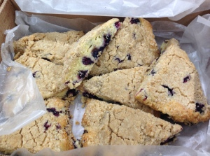 Blueberry Coffee-Cake Scones