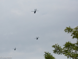 Helicopters over Lake Katherine